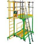 足場及び梯子安全体感装置